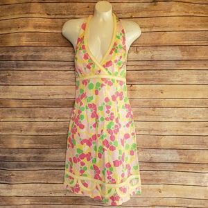 🌿Lilly Pulitzer Floral Halter Dress Size 6🌿
